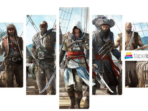 Tablou Canvas cu 5 Piese Assassin's Creed