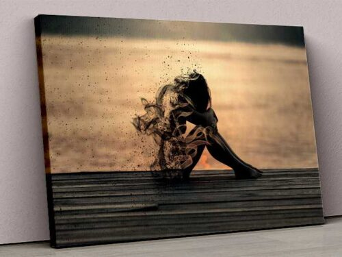 Tablou Canvas Smoke Girl Sadness