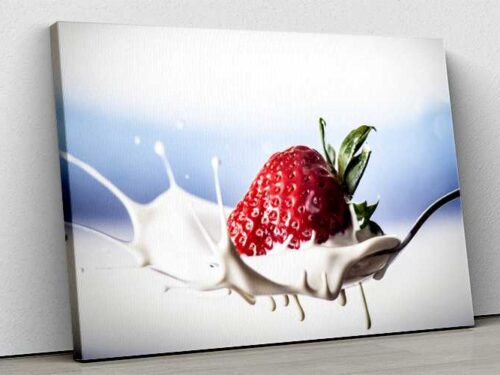 Tablou Canvas Strawberry Splash